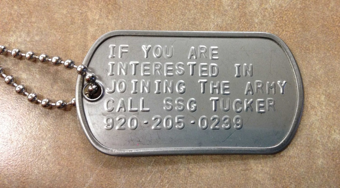 Staff Sgt Michael Tucker Leton Wisconsin Company Creative Use Of Dog Tags Increases Enlistments